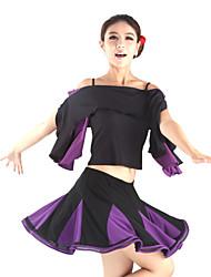 viscose dancewear danse latine haut camisole pour femmes