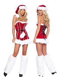 Carino aderente Red Dress Costume di Natale (3pezzi)