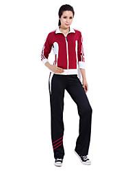 Manga 92% das mulheres chinlon longas não-Deformação Suits (camisola + calças)