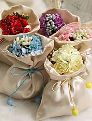 sacos de cetim simples favor - conjunto de 12 (mais cores)