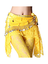 Dancewear Crystal Cotton with Coins Performance Belly Dance Belt for Ladies