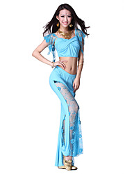 Dancewear Polyester Belly Dance Top and Bottom for Ladies More Colors