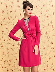 ts vintage Mesh Frontspriegel Design Kleid