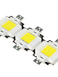 DIY 10W 800-900LM 6000-6500K Natural Light White Square integrado Módulo LED (9-11V, 3-Pack)