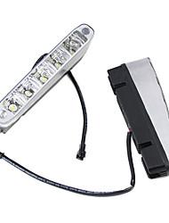 2 x 5 LED de alta potência de 5W 12V 24V Corrida Branco Daytime