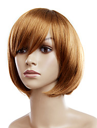 Capless Short Golden Blonde Straight Synthetic Wigs