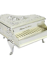 Personalized Fabulous Ivory Piano Shaped Tin Alloy Women's Jewelry Box
