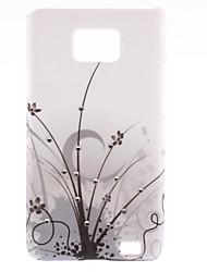 Schwarz Vines Pattern Hard Case mit Diamond für Samsung Galaxy S2 I9100