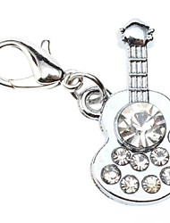 Dog tags Rhinestone Decorated Guitar Style Collar Charm for Dogs Cats