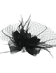 Women's Feather / Tulle Headpiece-Special Occasion Birdcage Veils As the Picture