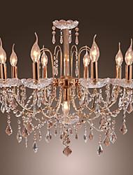 Lustre Elegante em Cristal com 9 Luzes