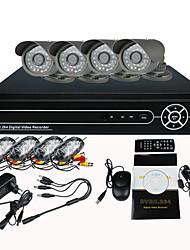 8-канальный видеорегистратор домашней безопасности камеры видеонаблюдения системы (с 4 warterproof камера ночного видения)