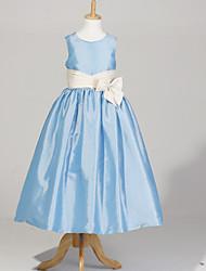 A-line/Ball Gown/Princess Ankle-length Flower Girl Dress - Taffeta Sleeveless