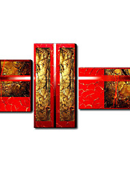 Hand Painted Oil Painting Abstract Set of 4 1211-AB0166