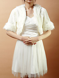 Fur Wraps / Wedding  Wraps Coats/Jackets Short Sleeve Faux Fur Ivory Wedding / Party/Evening Open Front Yes