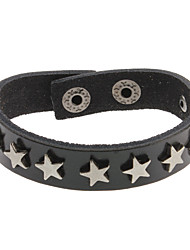 Five-pointed Star Leather Bracelet