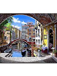 Ручная роспись маслом Пейзаж Венеции 1211-LS0191