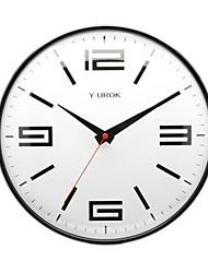 """11.5 """"h estilo moderno relógio de parede sem som no metal"""