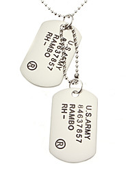 U.S.ARMY Double-faced Necklace-Matte Surface Christmas Gifts