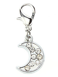 Rhinestone Decorated Little Moon Style Collar Charm for Dogs Cats