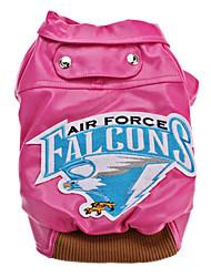 Air Force Falcons Manteau en cuir de style pour chiens (couleurs assorties, XS-XL)