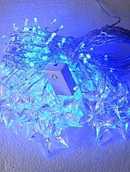 4Mx0.5M Azul Pentagrama LED String com 140 LEDs