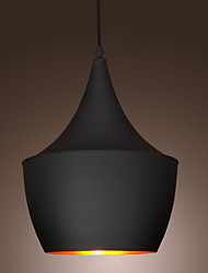 60W hanglamp met zwarte kap, 1 lamp