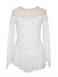 Mädchen Figure Skating Dress (White)