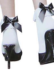 Chaussettes/Bas Doux Princesse Noir et blanc Accessoires Lolita  Bas Nœud papillon Pour Nylon