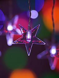 2Mx0.8M Red Pentagram LED String com 60 LEDs