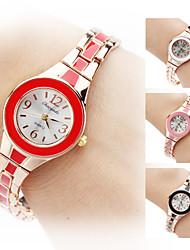 Damen Modeuhr Armband-Uhr Quartz Band Elegante Schwarz Weiß Rot Braun Rosa Marke