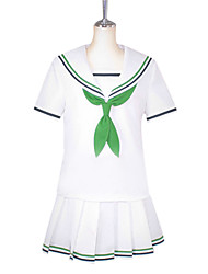Inspired by Kuroko no Basket Aida Riko Anime Cosplay Costumes Cosplay Suits / School Uniforms Patchwork White Short SleeveBlouse / Shirt