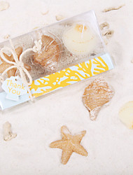 Seaside Beach Candle Favors (set of 3)