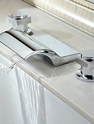 Bathtub Faucet - Contemporary - Waterfall - Stainless Steel (Chrome)