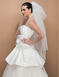 Four-tier Fingertip Wedding Veil With Satin Bow