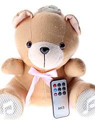 Plüschbären Stereo-Lautsprecher mit USB-Flash-Laufwerk und SD-Card Slot