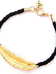 Women's Long Leaf Knit Bracelet