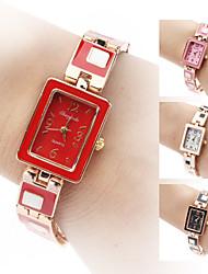 Damen Armband-Uhr Quartz Band Elegante Schwarz Weiß Rot Braun Rosa Marke