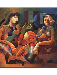 Ручная роспись маслом людей 1211-PE0067