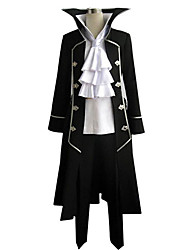 Inspired by Pandora Hearts Gilbert Nightray Anime Cosplay Costumes Cosplay Suits Patchwork Black Long Sleeve Coat / Shirt / Pants / Cravat