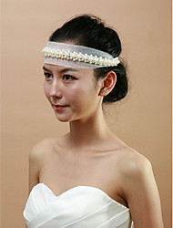 Women's Lace/Imitation Pearl Headpiece - Wedding/Special Occasion Headbands