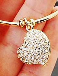 Women's Heart Diamond Bracelet(Internal Diameter 5.6cm)