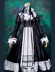 Inspired by GOSICK Victorique De Blois Anime Cosplay Costumes Cosplay Suits Patchwork Black Top