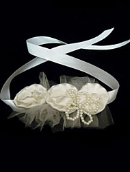 Women's Satin / Imitation Pearl Headpiece-Wedding / Special Occasion Headbands