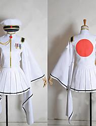 Inspirado por Vocaloid Hatsune Miku Vídeo Jogo Fantasias de Cosplay Ternos de Cosplay / Chimono Branco Manga CompridaCasaco / Saia /