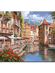 Ручная роспись маслом Пейзаж Венеции 1211-LS0186