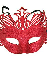 Creux-out Motif décoratif en PVC vacances Demi-masque (1 pièce)