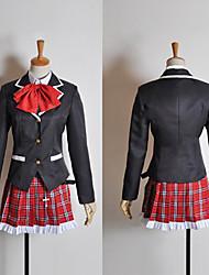 traje de cosplay inspirado por chunibyo demostración koi ga shitai! rikka Takanashi uniforme escolar con máscara para los ojos