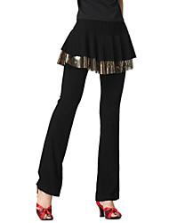 Dancewear Crystal Cotton Latin Dance Bottom For Ladies