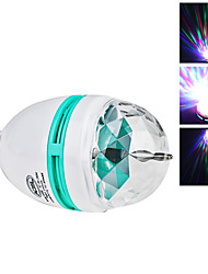 E26/E27 3 W 3 High Power LED 270 LM RGB/Color-Changing Sound-Activated Globe Bulbs AC 85-265 V